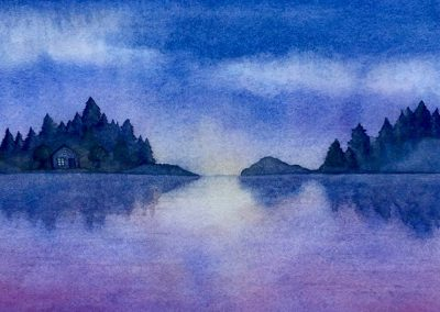 Little Lake House - Aquarelle - 2017