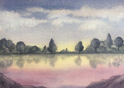 Calm Waters - Aquarelle - 2017
