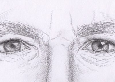 Male Eyes - Pencil - 2018