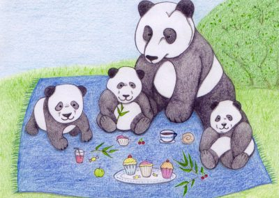 Panda Picnic - Children's Drawing - 2017