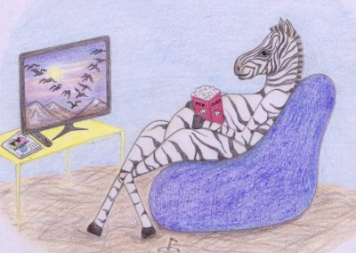 Zebra - Children's Drawing - 2017