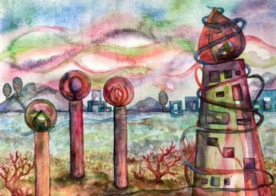 Towers - Aquarelle - 2020